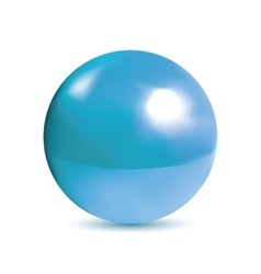 Photorealistic shiny blue orb vector
