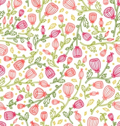 Pink daisies pattern vector image