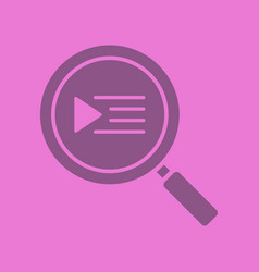 playlist search glyph color icon vector image