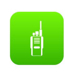 radio icon digital green vector image