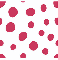 red dot seamless pattern on white vector image