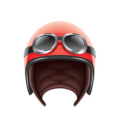 Retro aviator helmet isolated vector