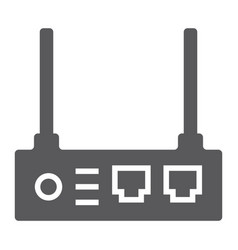 router glyph icon internet and connection wifi vector image