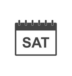 saturday calendar page pictogram icon simple flat vector image