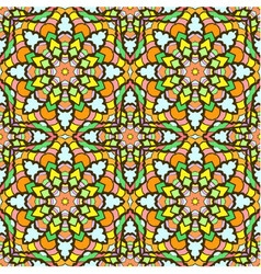 Seamless pattern from abstract elements vector