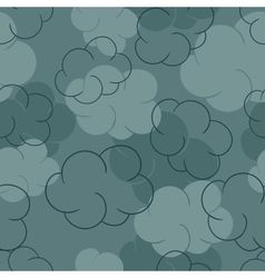 Seamless pattern with clouds - vector image vector image