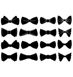 set of different bow ties vector image