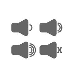 speaker icon set volume control onoff mute symbol vector image