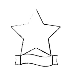 star and ribbon banner icon image vector image