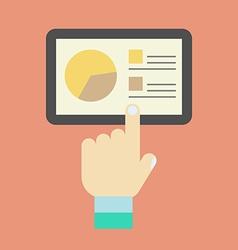Tablet computer icon vector