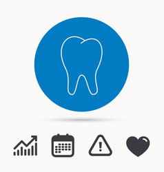 tooth icon stomatology sign vector image