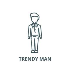 Trendy mandudehipster line icon linear vector