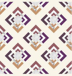 trendy seamless pattern with geometric elements vector image