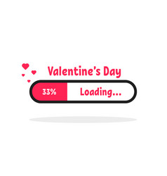 valentine s day loading bar icon vector image
