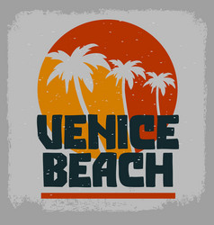 Venice beach los angeles california palm trees vector