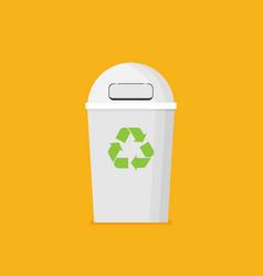 waste sorting garbage bin vector image