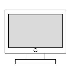 black line computer monitor vector image vector image