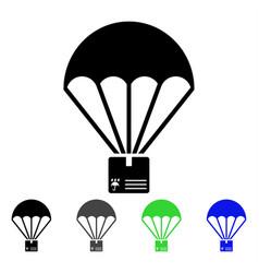 cargo parachute flat icon vector image vector image