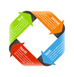Four steps process arrows vector image vector image