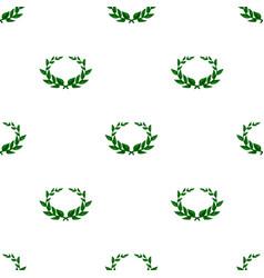 Laurel wreath icon in cartoon style isolated on vector