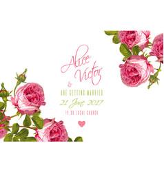 rose wedding invitation vector image