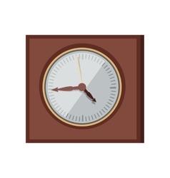 Wall Clock in Flat Design vector image vector image