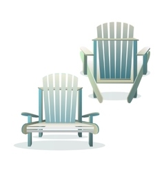 Adirondack wooden chair front and back vector image