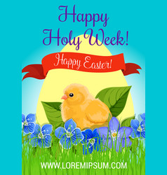 happy easter holy week paschal greeting vector image vector image