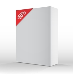 Photorealistic 3D White Carton Box Sale vector image vector image