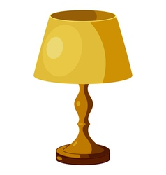 Yellow lamp vector image vector image