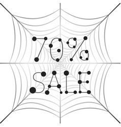 banner sale 70 percent discount on web vector image vector image