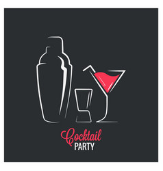 Cocktail shaker design background vector