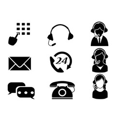customer service icon set vector image vector image