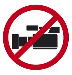 do not record video sign vector image