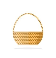 Empty woven basket vector image vector image