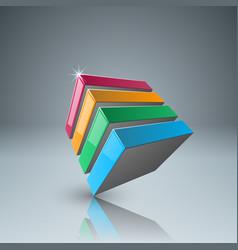 four color box icon vector image