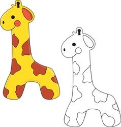 Giraffe Toy vector image vector image