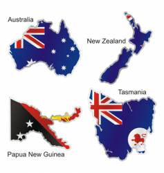 Oceania maps vector image