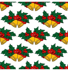 Seamless pattern with christmas bells vector image vector image