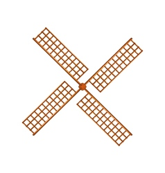 Windmill in wooden design vector image vector image