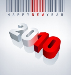 2010 new year barcode vector image vector image