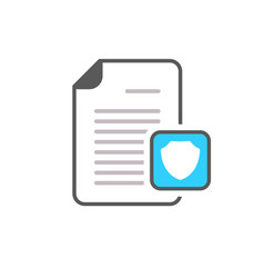 document file page security shield icon vector image vector image