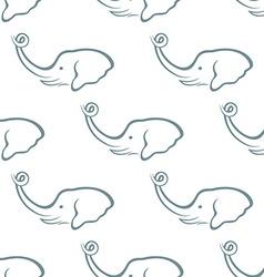 Elephant head seamless pattern vector image