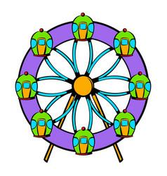 ferris wheel icon icon cartoon vector image