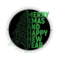 green polygonal christmas tree vector image