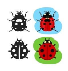 Ladybug flat color icon vector image vector image