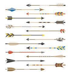 set of arrow types for archer vector image