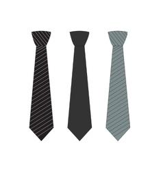 Tie Icon Symbol Set vector image vector image