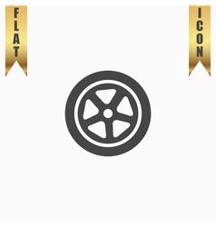 Wheel icon vector