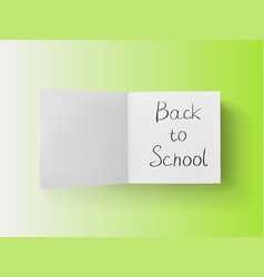 3d stack of white stickers with back to school vector